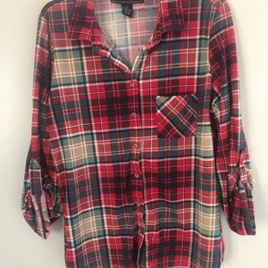 Women's red plaid